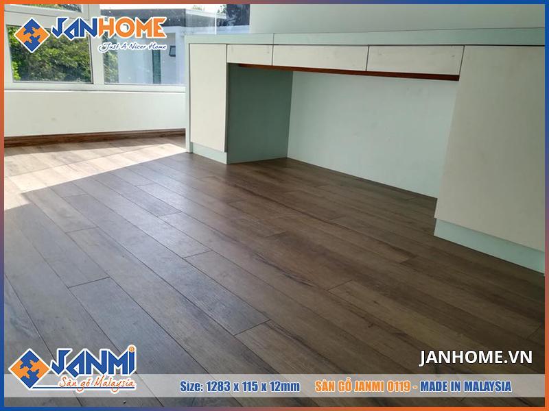 Vẻ đẹp thực tế của sàn gỗ Janmi O119 sang trọng