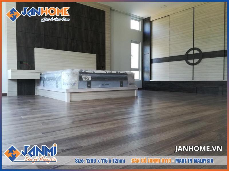 Lát sàn gỗ Janmi O119 công trình sang trọng, đẳng cấp hơn