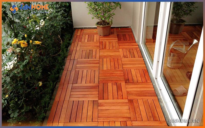 Vỉ gạch gỗ nhựa là vật liệu chuyên dụng cho các công trình ngoại thất