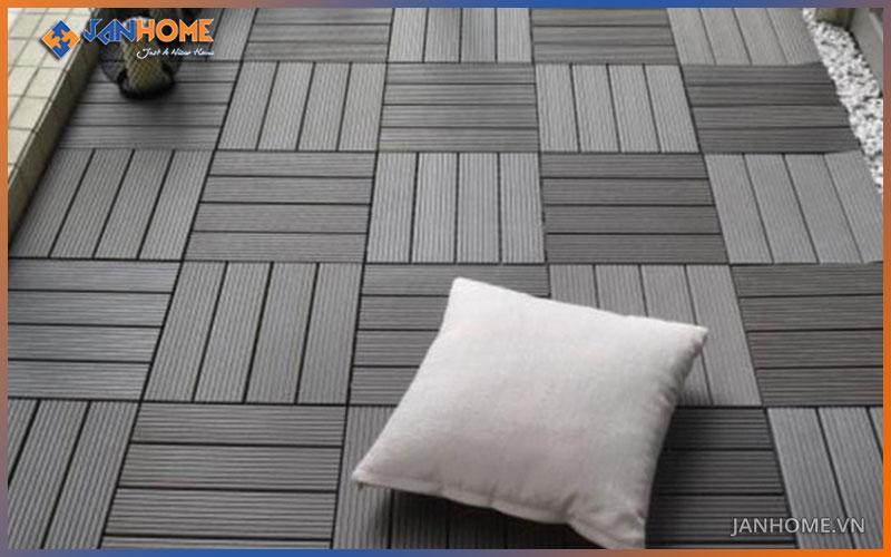 Vỉ gạch gỗ nhựa có khả năng chịu nước, chịu nhiệt cực tốt