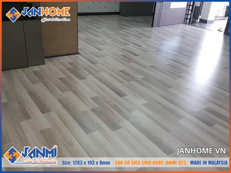 Thi công thực tế sàn gỗ Janmi O25