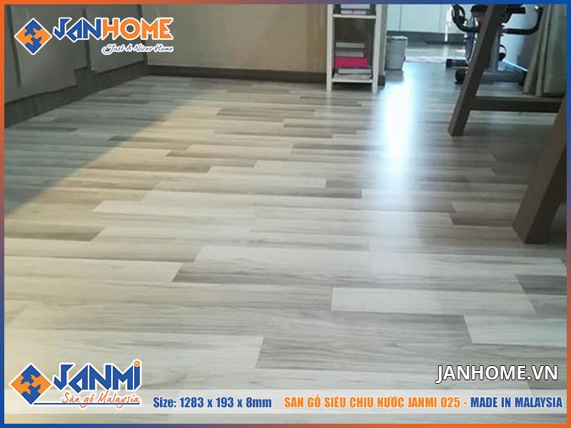 Cận cảnh đường vân gỗ đẹp mắt của sàn gỗ Janmi O25